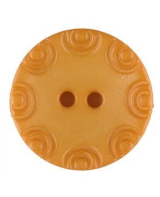 Polyamidknopf, von Kreisen umrandet, rund, 2 loch - Größe: 13mm - Farbe: gelb - Art.Nr. 216717