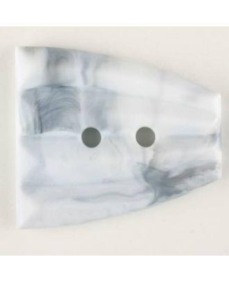 Polyamidknopf, fächerförmig, 2 loch - Größe: 38mm - Farbe: grau - Art.Nr. 370763