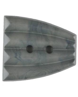 Polyamidknopf, fächerförmig, 2 loch - Größe: 38mm - Farbe: grau - Art.Nr. 376746
