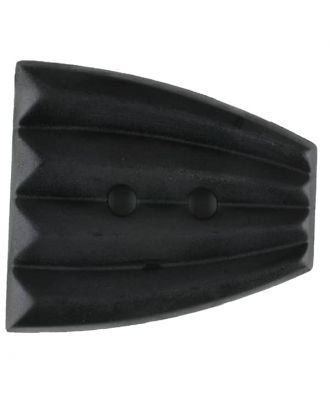 Polyamidknopf, fächerförmig, 2 loch - Größe: 38mm - Farbe: schwarz - Art.Nr. 370764