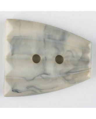 Polyamidknopf, fächerförmig, 2 loch - Größe: 38mm - Farbe: beige - Art.Nr. 376747