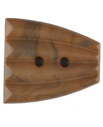 Polyamidknopf, fächerförmig, 2 loch - Größe: 38mm - Farbe: beige - Art.Nr. 376748