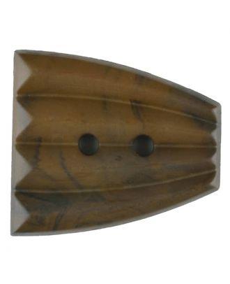 Polyamidknopf, fächerförmig, 2 loch - Größe: 38mm - Farbe: braun - Art.Nr. 376750