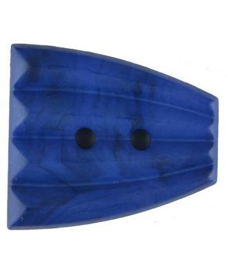 Polyamidknopf, fächerförmig, 2 loch - Größe: 38mm - Farbe: blau - Art.Nr. 376751