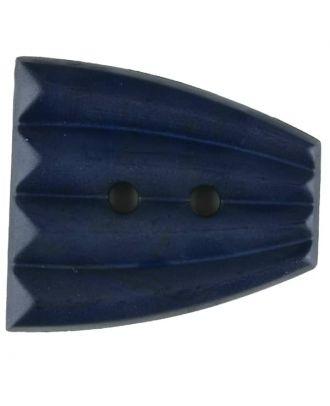 Polyamidknopf, fächerförmig, 2 loch - Größe: 38mm - Farbe: blau - Art.Nr. 376752