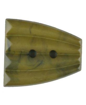 Polyamidknopf, fächerförmig, 2 loch - Größe: 38mm - Farbe: grün - Art.Nr. 376754
