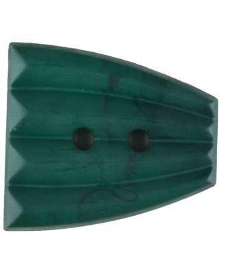 Polyamidknopf, fächerförmig, 2 loch - Größe: 38mm - Farbe: grün - Art.Nr. 376755