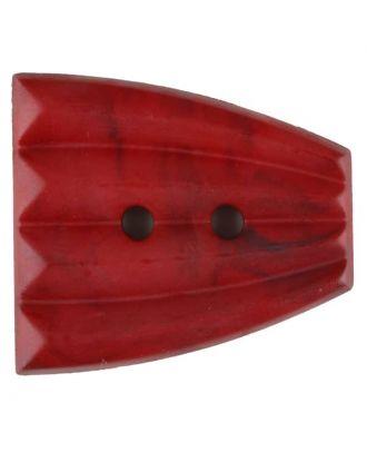 Polyamidknopf, fächerförmig, 2 loch - Größe: 38mm - Farbe: rot - Art.Nr. 376756