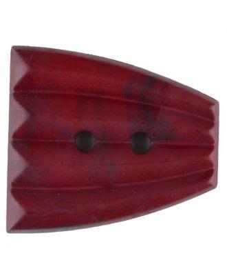 Polyamidknopf, fächerförmig, 2 loch - Größe: 38mm - Farbe: weinrot - Art.Nr. 376757