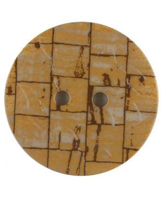 Polyamidknopf, Fliesenoptik, rund, 2 loch - Größe: 28mm - Farbe: beige - Art.Nr. 370761
