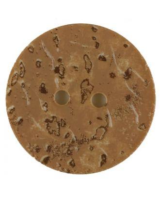 Polyamidknopf, Korkoptik, rund, 2 loch - Größe: 28mm - Farbe: beige - Art.Nr. 370762