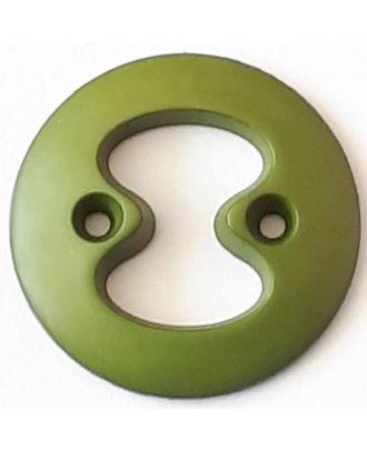 Polyamidknopf mit interessanter Ausstanzung mit 2 Löchern - Größe: 34mm - Farbe: grün - Art.Nr. 378719