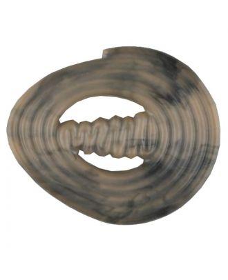 spiralförmiger Polyamidknopf mit Steg - Größe: 25mm - Farbe: beige - Art.Nr. 317713
