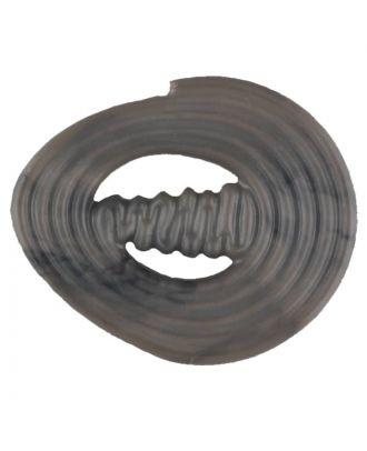 spiralförmiger Polyamidknopf mit Steg - Größe: 25mm - Farbe: beige - Art.Nr. 317714