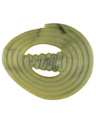 spiralförmiger Polyamidknopf mit Steg - Größe: 25mm - Farbe: gelb - Art.Nr. 317723