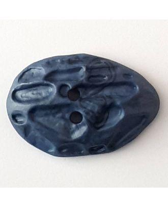 Polyamidknopf Mondlandschaft mit 2 Löchern - Größe: 40mm - Farbe: blau - Art.Nr. 408704