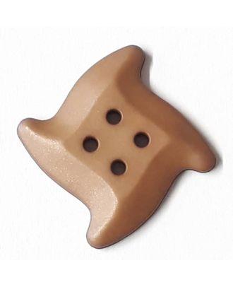süßer Seesternknopf mit 4 Löchern - Größe: 28mm - Farbe: braun - Art.Nr. 332815