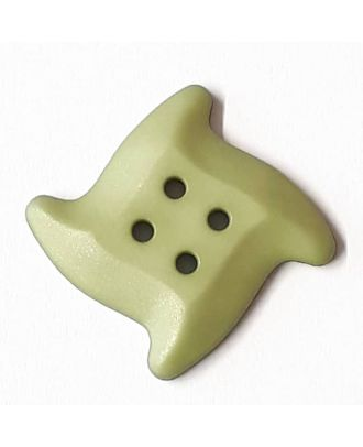 süßer Seesternknopf mit 4 Löchern - Größe: 32mm - Farbe: mintgrün / grün - Art.Nr. 372821