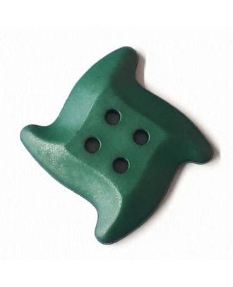 süßer Seesternknopf mit 4 Löchern - Größe: 32mm - Farbe: dunkelgrün / petrol - Art.Nr. 372823