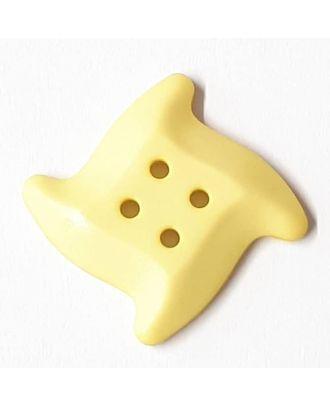 süsser Seesternknopf mit 4 Löchern - Größe: 32mm - Farbe: gelb / messing - Art.Nr. 372825