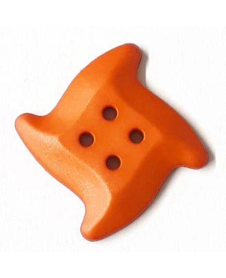 süsser Seesternknopf mit 4 Löchern - Größe: 32mm - Farbe: lachs / orange - Art.Nr. 372826