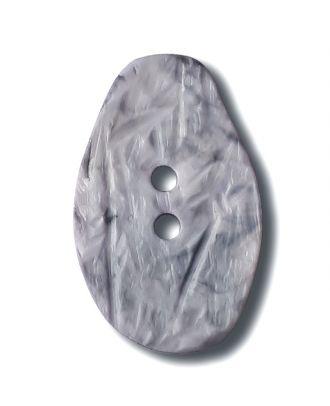 Marmorierter Knopf in Tropfenform mit 2 Löchern - Größe: 32mm - Farbe: flieder/lila - Art.Nr. 372833