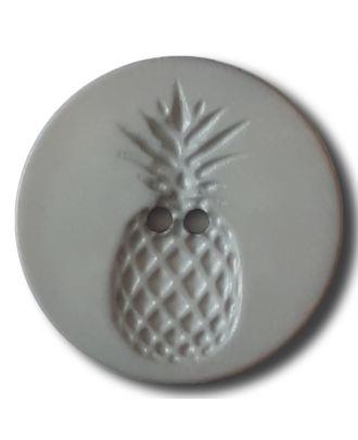 Knopf mit Relief in Ananasform 2-Loch - Größe: 28mm - Farbe: grau - Art.Nr. 332827