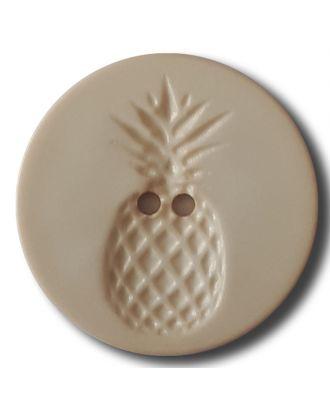 Knopf mit Relief in Ananasform 2-Loch - Größe: 18mm - Farbe: beige - Art.Nr. 242813