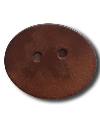 besonderer Holzknopf edel und schlicht, 2-Loch - Größe: 32mm - Farbe: braun - Art.Nr. 370820