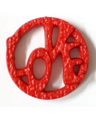schöner abstrakter Love Knopf - Größe: 15mm - Farbe: rot - Art.Nr. 242859