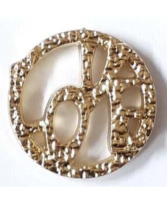schöner abstrakter Love Knopf - Größe: 25mm - Farbe: gold - Art.Nr. 360488