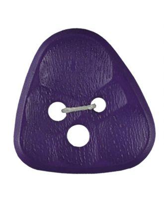 Polyamidknopf 3-Loch Dreieck mit Waben - Größe: 20mm - Farbe: lila - Art.Nr. 283804