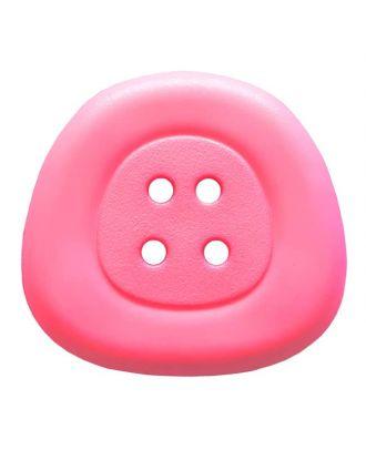 Polyamidknopf 4-Loch Trapez - Größe: 32mm - Farbe: rosa/pink - Art.Nr. 373823