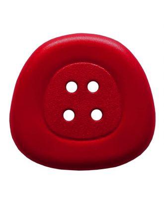 Polyamidknopf 4-Loch Trapez - Größe: 32mm - Farbe: rot - Art.Nr. 373826