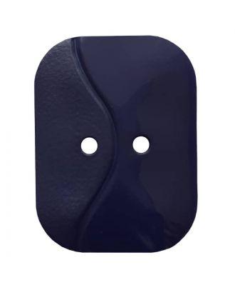rechteckiger Knopf mit Welle, 2-Loch - Größe: 32mm - Farbe: dunkelblau - Art.Nr. 374804