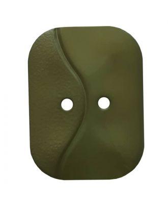 rechteckiger Knopf mit Welle, 2-Loch - Größe: 32mm - Farbe: grün - Art.Nr. 374807