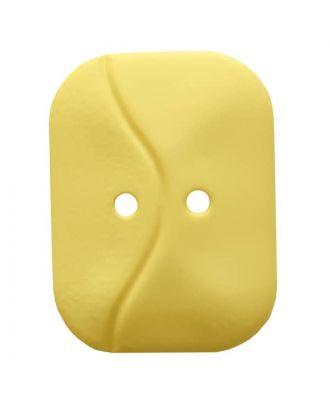 rechteckiger Knopf mit Welle, 2-Loch - Größe: 32mm - Farbe: gelb - Art.Nr. 374810
