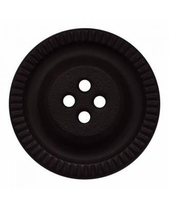 Knopf mit Zahnrad am Rand, 4-Loch - Größe: 18mm - Farbe: schwarz - Art.Nr. 281149