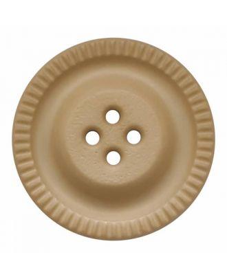 Knopf mit Zahnrad am Rand, 4-Loch - Größe: 28mm - Farbe: beige - Art.Nr. 344850