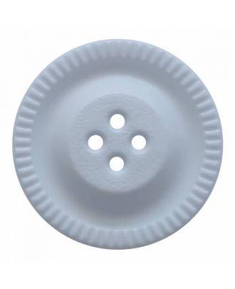 Knopf mit Zahnrad am Rand, 4-Loch - Größe: 28mm - Farbe: blau - Art.Nr. 344853
