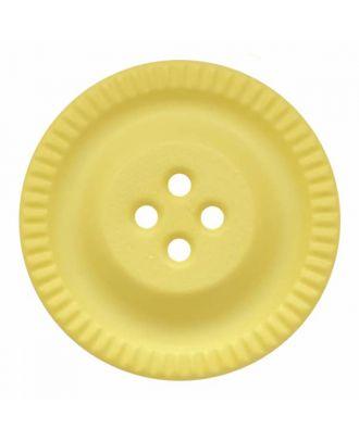 Knopf mit Zahnrad am Rand, 4-Loch - Größe: 28mm - Farbe: gelb - Art.Nr. 344861
