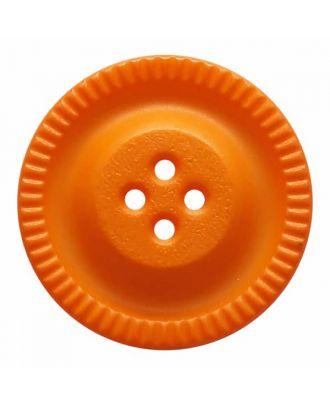 Knopf mit Zahnrad am Rand, 4-Loch - Größe: 28mm - Farbe: orange - Art.Nr. 344862