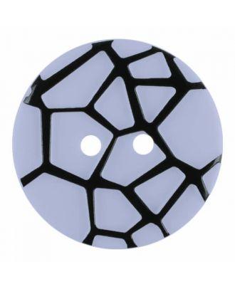 Knopf mit einem erhöhten schwarzen Spinnennetz , 2-Loch - Größe: 18mm - Farbe: blau - Art.Nr. 314829