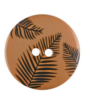 Knopf mit Blättern, 2-Loch - Größe: 25mm - Farbe: beige - Art.Nr. 344826