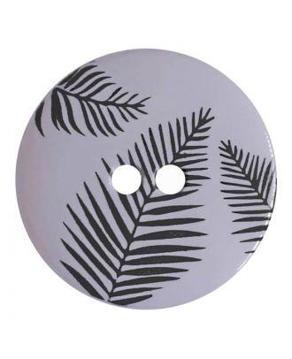 Knopf mit Blättern, 2-Loch - Größe: 13mm - Farbe: blau - Art.Nr. 264803
