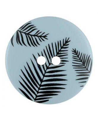 Knopf mit Blättern, 2-Loch - Größe: 13mm - Farbe: blau - Art.Nr. 264804