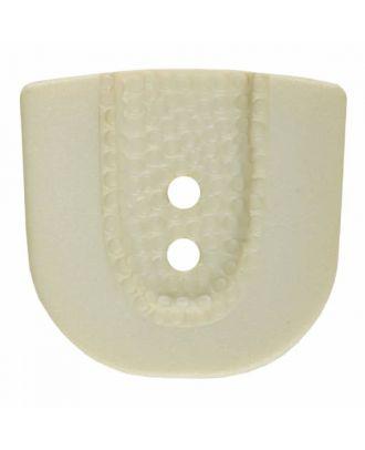 Polyamidknopf in Hufeisenform mit zwei Löchern - Größe: 30mm - Farbe: beige - Art.Nr. 385800