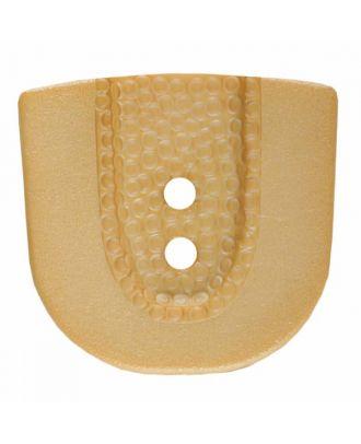 Polyamidknopf in Hufeisenform mit zwei Löchern - Größe: 30mm - Farbe: beige - Art.Nr. 385801