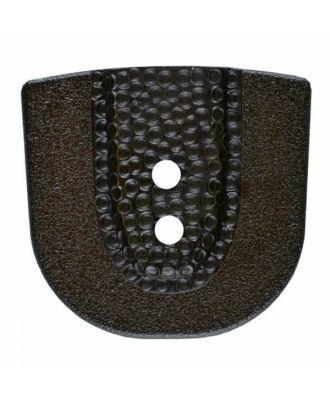 Polyamidknopf in Hufeisenform mit zwei Löchern - Größe: 30mm - Farbe: braun - Art.Nr. 385802