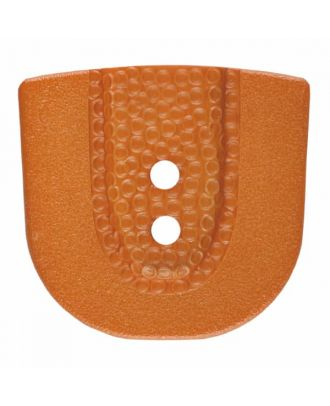 Polyamidknopf in Hufeisenform mit zwei Löchern - Größe: 30mm - Farbe: braun - Art.Nr. 385803
